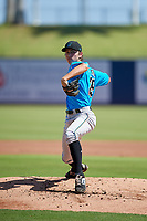 Miami Marlins pitcher Evan Fitterer (29) during an Instructional League game against the Washington Nationals on September 26, 2019 at FITTEAM Ballpark of The Palm Beaches in Palm Beach, Florida.  (Mike Janes/Four Seam Images)