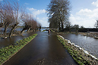 Flooding in the Somerset Levels, village of Burrowbridge. 8-2-14