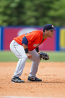 Greeneville Astros third baseman Randy Cesar (22) on defense against the Kingsport Mets at Hunter Wright Stadium on July 7, 2015 in Kingsport, Tennessee.  The Mets defeated the Astros 6-4. (Brian Westerholt/Four Seam Images)
