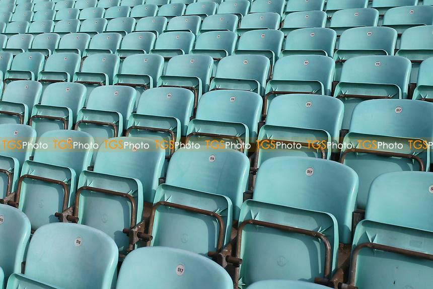 General view of empty seats around the ground ahead of Surrey CCC vs Essex CCC, LV Insurance County Championship Division 2 Cricket at the Kia Oval on 12th September 2021