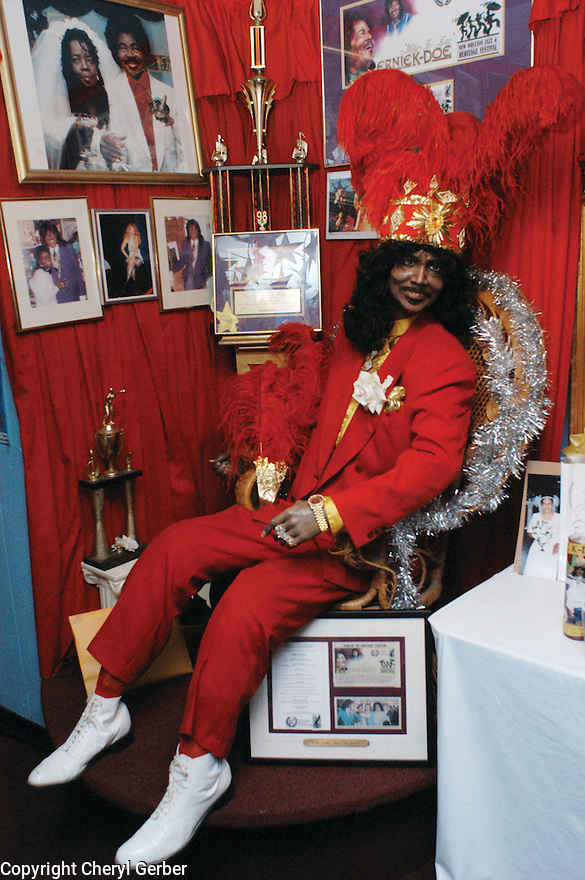 A mannequin of the late R&B singer Ernie K-Doe at the Mother-in-Law Lounge in the 7th Ward, 2003