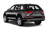 Car pictures of rear three quarter view of 2017 Audi Q7-e-Tron Avus 5 Door SUV Angular Rear