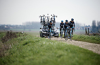 2015 Paris-Roubaix recon with Team SKY, including Sir Bradley Wiggins (GBR/Sky)