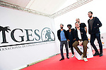 """Gary Farkas, Katya Mofolo, Oliver Muller, Clement Lepourte and the director of the film Christophe Deroo during pose to the media during the presentation of the film """"Sam Was Here"""" at Festival de Cine Fantastico de Sitges in Barcelona. October 08, Spain. 2016. (ALTERPHOTOS/BorjaB.Hojas)"""