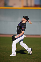 Riggs McDonald (15) of Midland High School in Midland, Texas during the Baseball Factory All-America Pre-Season Tournament, powered by Under Armour, on January 13, 2018 at Sloan Park Complex in Mesa, Arizona.  (Mike Janes/Four Seam Images)