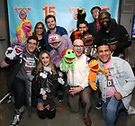 "Avenue Q & Puppetry Fans during ""Avenue Q"" Celebrates World Puppetry Day at The New World Stages on 3/21/2019 in New York City."