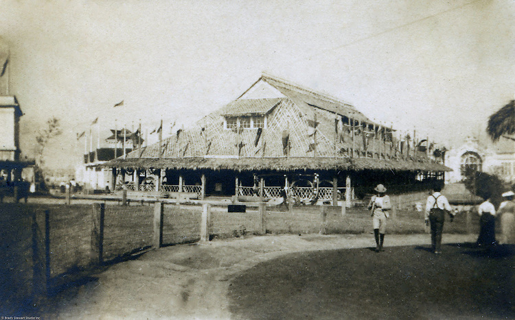 St Louis Mo:  View of one of the building in the Philippine Village at the St Louis World's Fair