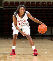 Briana Roberson with Stanford Womem's basketball team. Photo taken on Wednesday, October 2, 2013