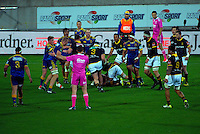 Referee Will Houston awards a scrum to Otago during the ITM Cup rugby union match between Wellington Lions and Otago at Westpac Stadium, Wellington, New Zealand on Thursday, 17 September 2015. Photo: Dave Lintott / lintottphoto.co.nz