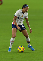 ORLANDO CITY, FL - FEBRUARY 18: Lynn Williams #6 during a game between Canada and USWNT at Exploria stadium on February 18, 2021 in Orlando City, Florida.
