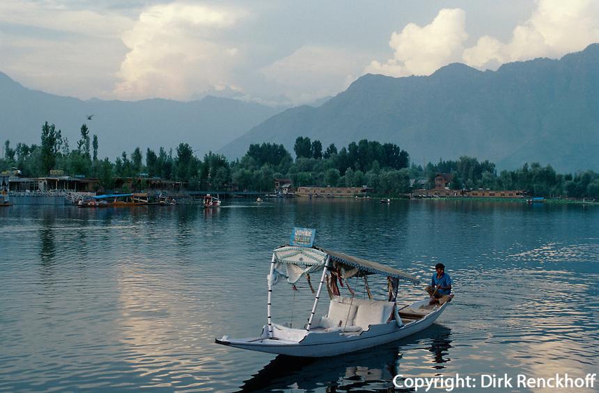 Indien, Srinagar (Kashmir), Auf dem Dal-See