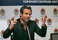 05-12-13, Netherlands, Rotterdam, Topsportcentrum, Prtess conference Masters, , Press conference Masters with Tournament director Reamon Sluiter<br /> Photo: Henk Koster