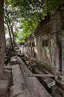 Cambodia, Beng Mealea Sanctuary Wall, 12th. Century.