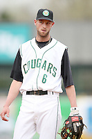 April 29, 2009: Jason Christian (6) of the Kane County Cougars at Elfstrom Stadium in Geneva, IL.  Photo by: Chris Proctor/Four Seam Images