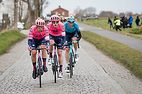 3 surviving riders from the early breakaway group (about to get caught by the first bunch)<br /> <br /> 83rd Gent-Wevelgem - in Flanders Fields (ME - 1.UWT)<br /> 1 day race from Ieper to Wevelgem (BEL): 254km<br /> <br /> ©kramon