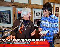 PHOTO By © Stephen Daniels  08/03/2010 <br /> Ronny Woods, Ian McLagan at The Face, rehearsal, Surrey
