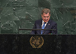 72 General Debate – 20 September <br /> <br /> <br /> His Excellency Sauli Niinistö, President of the Republic of Finland