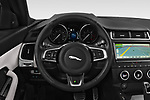 Car pictures of steering wheel view of a 2018 Jaguar E Pace R Dynamic 5 Door SUV