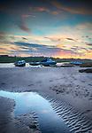Sunset over Alnmouth, Northumberland, UK