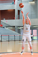 Hanne Mestdagh (22) of Belgium pictured during a basketball game between the national teams of Belgium , called the Belgian Cats , and Serbia on Friday 28 th of May 2021 in Kortrijk , Belgium . PHOTO SPORTPIX.BE   SPP   STIJN AUDOOREN