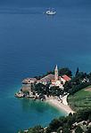 .Brac Island. Bol. Dominican monastery (Dominiki samostan) built in 1475.Cruise in Croatia. Island of Dalmatia