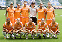 Sky Blue FC starting eleven. The Sky Blue FC defeated the LA Sol 1-0 to win the WPS Final Championship match at Home Depot Center stadium in Carson, California on Saturday, August 22, 2009...
