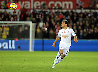 Sunday 09 November 2014 <br /> Pictured: Jefferson Montero of Swansea<br /> Re: Barclays Premier League, Swansea City FC v Arsenal City at the Liberty Stadium, Swansea, Great Britain.