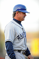 Asheville Tourists Manager Joe Mikulik #20 during a game vs. the Hickory Crawdads at L.P. Franz Stadium in Hickory,  North Carolina;  April 7, 2011.  Hickory defeated Asheville 4-2.  Photo By Tony Farlow/Four Seam Images