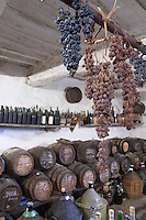 Making Vin Santo at a wine producer's in Montepulciano in southern Tuscany