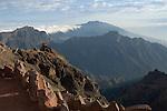 Spain, Canary Islands, La Palma, view from Roque de los Muchachos across Caldera de Taburiente