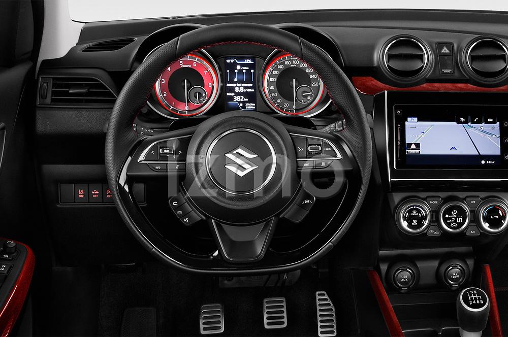 Car pictures of steering wheel view of a 2018 Suzuki Swift Sport Base 5 Door Hatchback