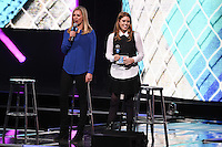 Holly Branson and Princess Beatrice<br /> at WE Day 2016 at Wembley Arena, London<br /> <br /> <br /> ©Ash Knotek  D3096 09/03/2016