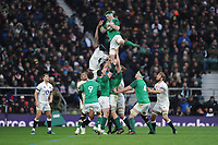 Peter O'Mahony of Ireland wins the lineout during the NatWest 6 Nations match between England and Ireland at Twickenham Stadium on Saturday 17th March 2018 (Photo by Rob Munro/Stewart Communications)