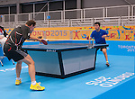 Toronto, ON - Aug 8 2015 - Martin Pelletier competes in Group C MS9 table tennis in the ATOS Markham Centre during the Toronto 2015 Parapan American Games  (Photo: Matthew Murnaghan/Canadian Paralympic Committee)