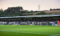 General view of play during the Capital One Cup match between Wycombe Wanderers and Fulham at Adams Park, High Wycombe, England on 11 August 2015. Photo by Andy Rowland.