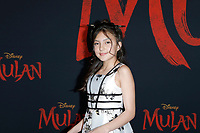 "LOS ANGELES - MAR 9:  Elle Paris Legaspi at the ""Mulan"" Premiere at the Dolby Theater on March 9, 2020 in Los Angeles, CA"