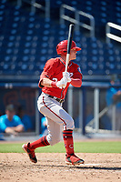 Washington Nationals Jake Randa (24) at bat during an Instructional League game against the Miami Marlins on September 26, 2019 at FITTEAM Ballpark of The Palm Beaches in Palm Beach, Florida.  (Mike Janes/Four Seam Images)
