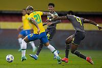 4th June 2021; Beira-Rio Stadium, Porto Alegre, Brazil; World Cup 2022 qualifiers; Brazil versus Ecuador; Gabriel Barbosa of Brazil breaks away from Robert Arboleda of Ecuador