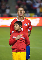 CARSON, CA – JANUARY 22: Chile midfielder Francisco Silva (6) before the international friendly match between USA and Chile at the Home Depot Center, January 22, 2011 in Carson, California. Final score USA 1, Chile 1.