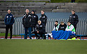 The Queen of the South bench at Meadowbank which was literally a bench with no cover ...
