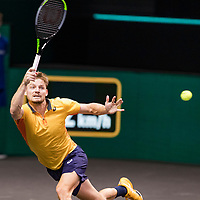 Rotterdam, The Netherlands, 4 march  2021, ABNAMRO World Tennis Tournament, Ahoy, Second round match: David Goffin (BEL). Photo: www.tennisimages.com/