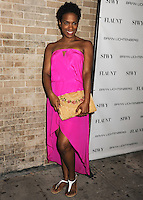 NEW YORK CITY, NY, USA - SEPTEMBER 03: Vicky Jeudy arrives at the Flaunt Magazine Distress Issue Launch held at Gilded Lily on September 3, 2014 in New York City, New York, United States. (Photo by Celebrity Monitor)