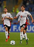 Calcio, Champions League, Gruppo E: Roma vs Bayer Leverkusen. Roma, stadio Olimpico, 4 novembre 2015.<br /> Bayer Leverkusen's Admir Mehmedi in action during a Champions League, Group E football match between Roma and Bayer Leverkusen, at Rome's Olympic stadium, 4 November 2015.<br /> UPDATE IMAGES PRESS/Riccardo De Luca