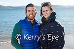 Enjoying a stroll in Fenit on Sunday, l to r: Jeremiah and Clara Moroney.