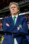 Coach Jorge Jesus of Sporting CP reacts piror to the UEFA Europa League quarter final leg one match between Atletico Madrid and Sporting CP at Wanda Metropolitano on April 5, 2018 in Madrid, Spain. Photo by Diego Souto / Power Sport Images