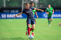 LAKE BUENA VISTA, FL - JULY 14: Przemyslaw Frankowski #11 of the Chicago Fire dribbles the ball during a game between Seattle Sounders FC and Chicago Fire at Wide World of Sports on July 14, 2020 in Lake Buena Vista, Florida.