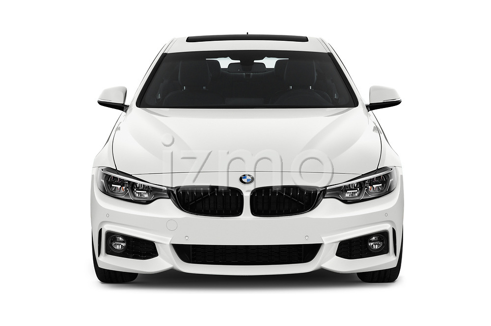 Car photography straight front view of a 2019 BMW 4 series M Sport 2 Door Coupe