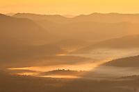 Valley fog at sunrise, Blue Ridge Parkway