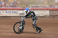 George Hunter of Lakeside Hammers remounts in Heat 6<br /> <br /> Photographer Rob Newell/CameraSport<br /> <br /> National League Speedway - Lakeside Hammers v Eastbourne Eagles - Lee Richardson Memorial Trophy, First Leg - Friday 14th April 2017 - The Arena Essex Raceway - Thurrock, Essex<br /> © CameraSport - 43 Linden Ave. Countesthorpe. Leicester. England. LE8 5PG - Tel: +44 (0) 116 277 4147 - admin@camerasport.com - www.camerasport.com