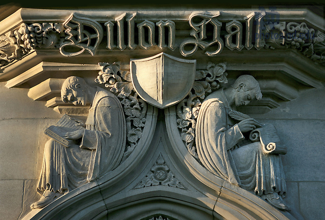 Relief over Dillon Hall north entrance
